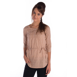 Bombay High Cotton Brown Regular Shirt