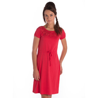 Bombay High Cotton Red Comfort Fit Dress