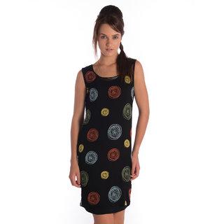 Bombay High Cotton Black Regular Dress