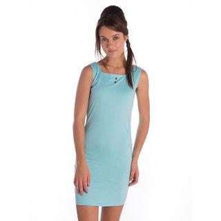 Bombay High Cotton Sky Blue Regular Dress