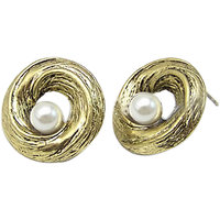 Young & Forever Elegant Pearl Stud Earrings For Women By CrazeeMania