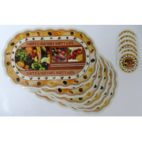 Decorika Eva Printed Table Mats & Coaster Set Of 12 Pcs - BUY1 GET 1 FREE