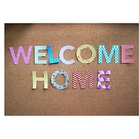 Welcome Home Door  Vinyl Home Decor PVC Wall Sticker ( PVC Plastic Sticker , 31 Cm X 31 Cm)