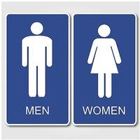 Toilet Male/Female Restroom Vinyl Home Decor PVC Wall Sticker ( PVC Plastic Sticker , 15 Cm X 15 Cm)