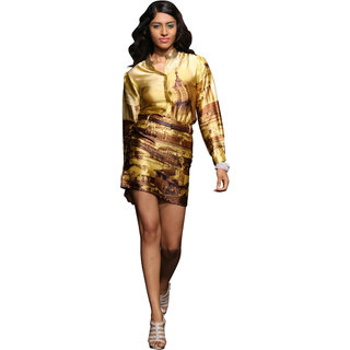 Love From  India - Golden Rome Skyline Embellished Shirt