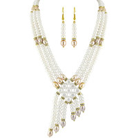 Jpearls 3 String Pearl Necklace Set