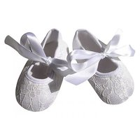 Pinkxenia Infant White Anti-Slip Soft Sole Prewalker Lace Sandals Baby Girl Shoes