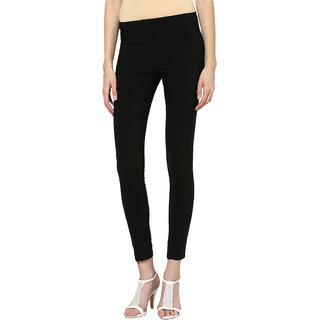 Prakum Women Black Skinny Fit Trousers