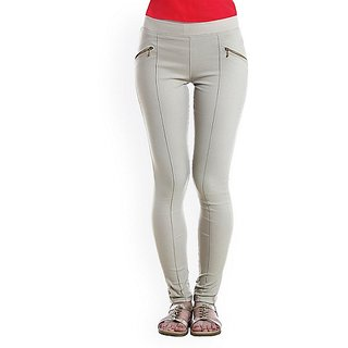 White Treggings Latest Pant Style Jeggings Skinny Legging New Free Size Tight - 6058752