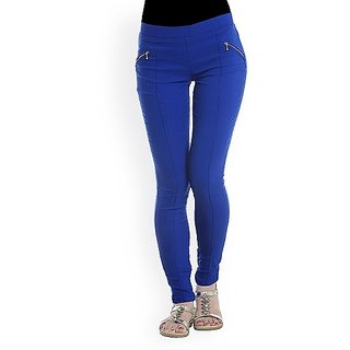 Blue Treggings Latest Pant Style Jeggings Skinny Legging New Free Size Tight