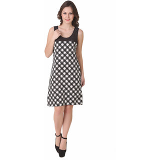 NOD Diana Black & White Checkers Dress