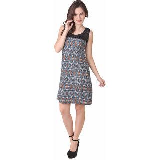 NOD Pamela Blue & Orange Amulet Net Dress