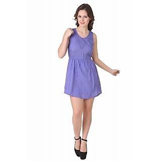 NOD Holly Purple Net Cross Back Dress