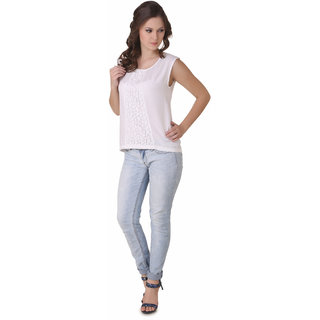 NOD Kelly Smoke White Sleeveless Lace Top