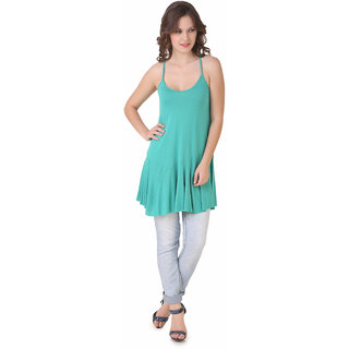 NOD Isabella Knotted Back Pantone Green Top