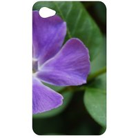 Purple Flower With Leaves Back Cover Case For Apple IPod Touch 4