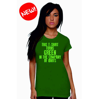 Long Tees Turn Colour - LT - SS13 Vivid Green For Women