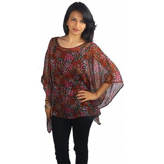 Western Top Alicia Brown Printed For Women