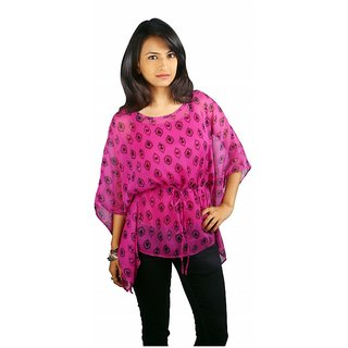 Western Top Alicia Violet Printed For Women