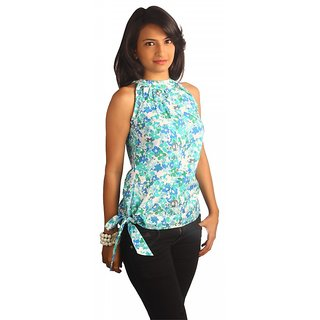Western Top Danielle Green Floral For Women