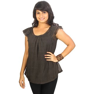 Western Top Isabelle Black For Women
