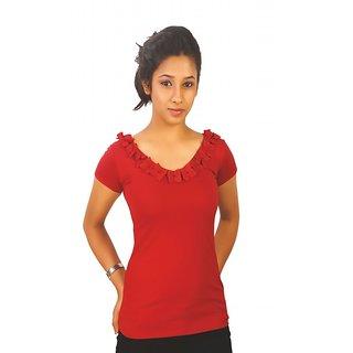Western Top Sara Tibetian Red For Women