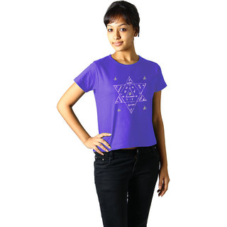 Regular Tees Star Yantra (TW) Lavender For Women