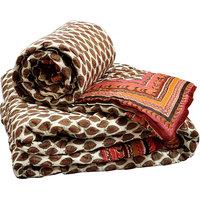 Jaipuri Pure Cotton Double N Single Bed Quilt Set