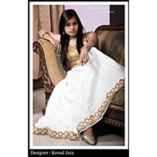 Designer Semi Stiched Long Gown With Flair Of Imported Fabric