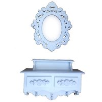 Shah Kreations Dressing Table With Mirror Wall Shelf Plaque