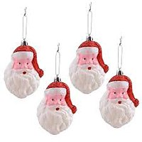 Santa Faces For Christmas Tree Decoration ( Set Of 6 Pcs)