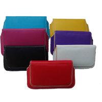 Premium PU Leather Flip Flap Pouch Case Cover For Intex IN 50 Plus (PU1)
