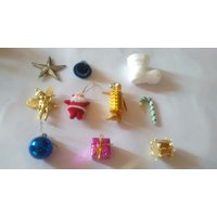 Christmas Tree Decorations Hangings ( Set Of 10 Items)