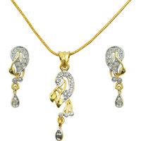 "AAKSHI ""Beautiful Diva Enchante Diamonds"" American Diamond 3-PC Jewellery Set"