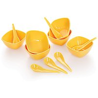 Cello Ware Soup Set Square (12 Pcs) Yellow
