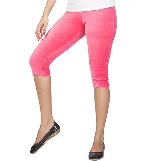 Clifton Women's Hot Pink Velvet Capri