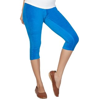 Clifton Women's Diva Blue Velvet Capri