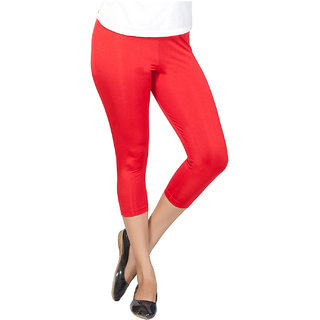 Clifton Women's Crimson  Red Plated Capri