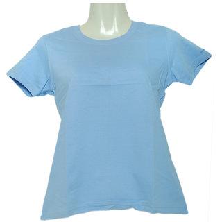 Fruit Of The Loom Ladies Crew Tee Tshirt Light Blue- LCRWLBZ