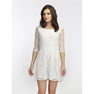 Schwof White Alover Lace Dress