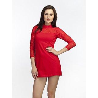 Schwof Red Mandarin Dress