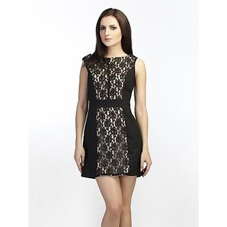 Schwof Black Lace Pannel Dress