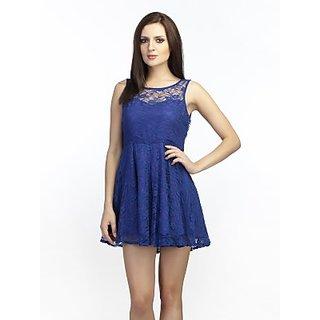 Schwof Blue Lace Dress