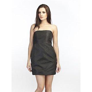 Schwof Black Brocade Dress