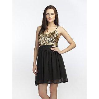 Schwof Gold Embroidery Dress