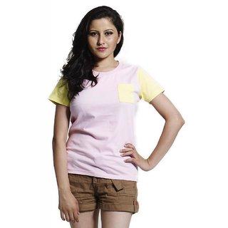 Masculino Latino Light Pink  Lady Fashion T-shirt (MLT1011A)