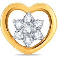 Pure Gold Jewellers 18kt Yellow Gold Floral Nosepin With 7pcs Of 0.12cts Diamond - 6371866