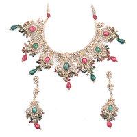 Amarsonns Jewels Multi Colour Kundan Necklace Set