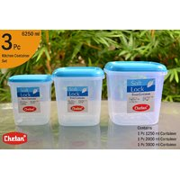 CHETAN 3 PC SET, PLASTIC KITCHEN STORAGE CONTAINERS AIRTIGHT.PCHTN.NO.005 - 6417882
