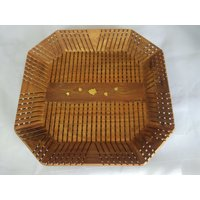 Wood Ocean Octagonal Serving Tray With Elegant Finish